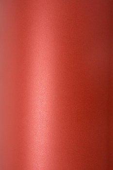 Papier ozdobny, metalizowany, Sirio Pearl, Red Fever, A4, 10 arkuszy