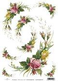 Papier ryżowy ITD A4 R427 róże konwalie-ITD Collection
