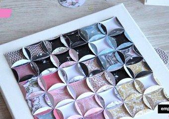 Papierowe dekoracje -  pomysłowe układanki z kwadracików