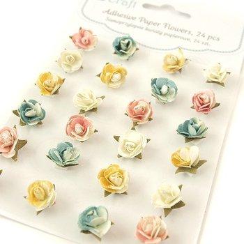 Papierowe róże samoprzylepne 24 szt.-dpCraft