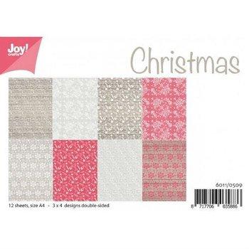 Papiery świąteczne Christmas A4 12szt.-Joy! Crafts