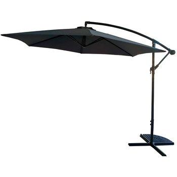 Parasol ogrodowy 300cm składany na wysięgniku szary-Saska Garden