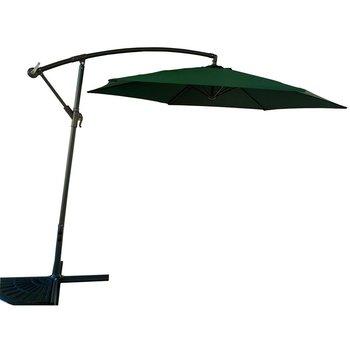 Parasol ogrodowy 300cm składany na wysięgniku zielony-Saska Garden