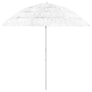 Parasol plażowy, biały, 240 cm-vidaXL
