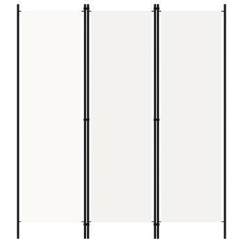 Parawan 3-panelowy, biały, 150 x 180 cm-vidaXL