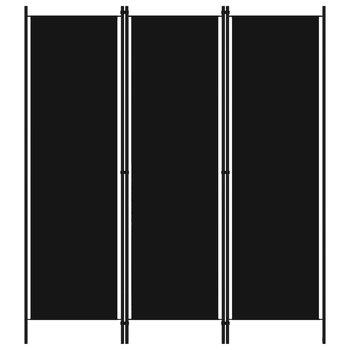 Parawan 3-panelowy, czarny, 150 x 180 cm-vidaXL