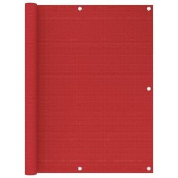 Parawan balkonowy, czerwony, 120x400 cm, HDPE-vidaXL