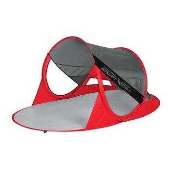 Parawan plażowy samorozkładający SV-WS0009 SportVida - Czerwony || Ciemny szary-SportVida