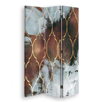 Parawan pokojowy, Marokańska koniczyna w brązach, 110x170 cm-Feeby