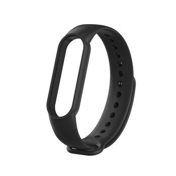 Pasek sportowy opaska silikonowa do Mi Band 5 czarny-smartGEAR
