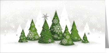 Pejzaż zimowy kartka świąteczna z tekstem  LZ-T 83-Czachorowski