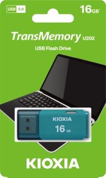 Pendrive 16GB USB 2.0 KIOXIA Hayabusa U202 Aqua (38526466 )-KIOXIA