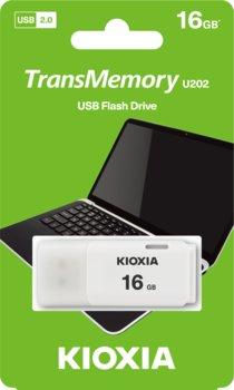 Pendrive 16GB USB 2.0 KIOXIA Hayabusa U202 White (38526305 )-KIOXIA