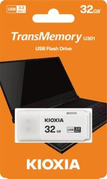 Pendrive 32GB USB 3.2 KIOXIA Hayabusa U301 White (38527555 )-KIOXIA
