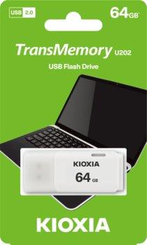 Pendrive 64GB USB 2.0 KIOXIA Hayabusa U202 White (38526350 )-KIOXIA