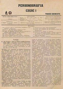 Personografia. Część 1-Szewczyk Tomasz Paweł