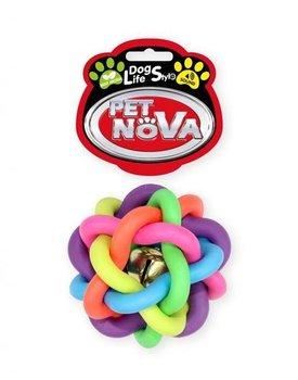 Pet Nova DOG LIFE STYLE Piłka pleciona 6cm, kolorowa, aromat mięta-PET NOVA