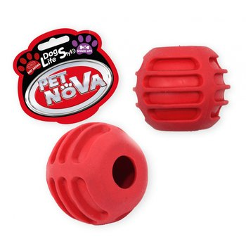 Pet Nova Piłka na przysmaki czerwona 6cm-PET NOVA