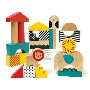 Petit Collage, klocki drewniane Zwierzęta-Petit Collage