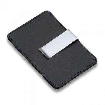 PHILIPPI Etui na karty kredytowe z klipem na pieniądze Giorgio, czarny, 10x7,2 cm-Philippi
