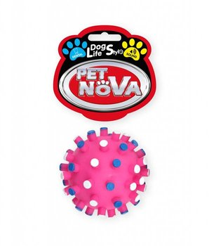 Piłka jeżowa PET NOVA DentBall z dźwiękiem, różowa, 7 cm-PET NOVA