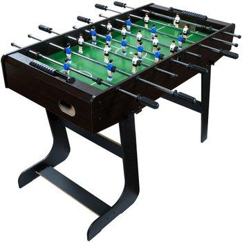 Piłkarzyki, stolik piłkarski gra w piłkarzyki składane, Trambambula Belfast, ciemny brąz, 121x101x79 cm -MKS