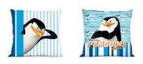 Pingwiny, Poszewka na poduszkę, 40x40 cm