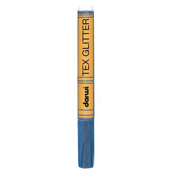 Pisak do tkanin, Tex Glitter, niebieski