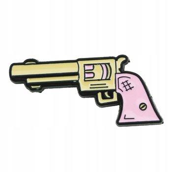Pistolet różowy Girl Power przypinka-Pinets
