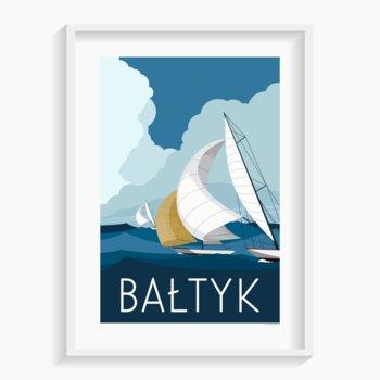 Plakat Bałtyk Jachty 40x50 cm-A. W. WIĘCKIEWICZ