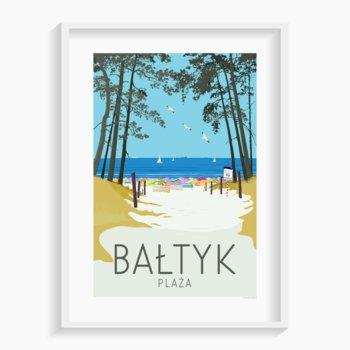 Plakat Bałtyk Plaża 50x70 cm-A. W. WIĘCKIEWICZ