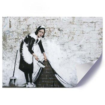 Plakat, Banksy mural Pokojówka - Plakat - 60x40-Feeby