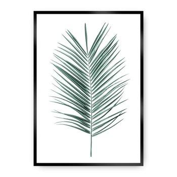 Plakat DEKORIA Palm Leaf Emerald Green, 21x30 cm, czarna ramka-Dekoria