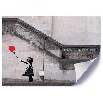 Plakat, Dziewczynka z balonikiem w kształcie serca Banksy mural - Plakat - 40x30-Feeby