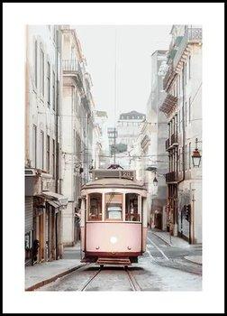 Plakat Fabryka Plakatu, A1 Podmiejski Różowy Tramwaj 60x84 cm-Fabryka plakatu