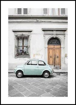 Plakat Fabryka Plakatu, A3 Samochód Retro we Włoszech 30x42 cm-Fabryka plakatu