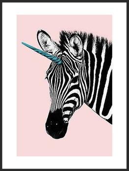 Plakat Fabryka Plakatu, A4 Zabawna Zebra 21x30 cm-Fabryka plakatu
