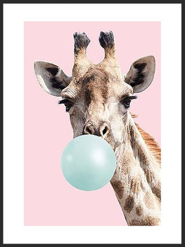 Plakat Fabryka Plakatu, B2 Zabawna Żyrafa 50x70 cm-Fabryka plakatu