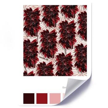 Plakat FEEBY Bordowe liście, 40x60 cm-Feeby