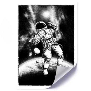 Plakat FEEBY Czarno, biały kosmonauta, 40x60 cm-Feeby