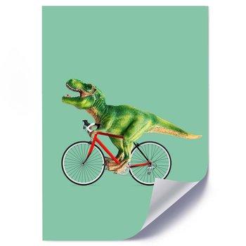 Plakat FEEBY Dinozaur na rowerze, 50x70 cm-Feeby