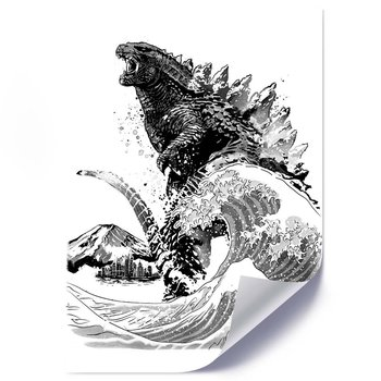 Plakat FEEBY Godzilla, 50x70 cm-Feeby
