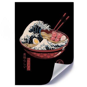 Plakat FEEBY Japońska zupa abstrakcja, 50x70 cm-Feeby