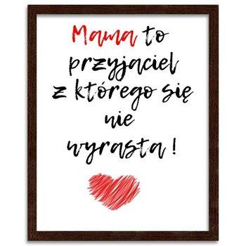 Plakat FEEBY Mama to przyjaciel, 21x29,7 cm-Feeby