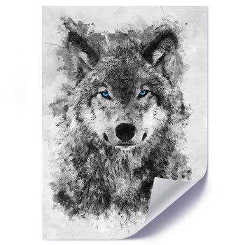 Plakat FEEBY Namalowany wilk, 70x100 cm-Feeby