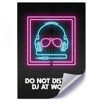 Plakat FEEBY Neony DJ, 40x60 cm-Feeby