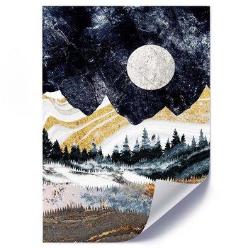 Plakat FEEBY Pełnia księżyca nad górami, 50x70 cm-Feeby