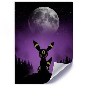 Plakat FEEBY, Pokemon przy świetle księżyca, 70x100 cm-Feeby