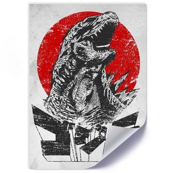 Plakat FEEBY, Przerażająca Godzilla, 40x60 cm-Feeby