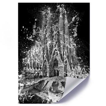 Plakat FEEBY Sagrada Familia w Barcelonie, 50x70 cm-Feeby